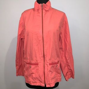 Chico's Coral Lightweight Windbreaker Jacket